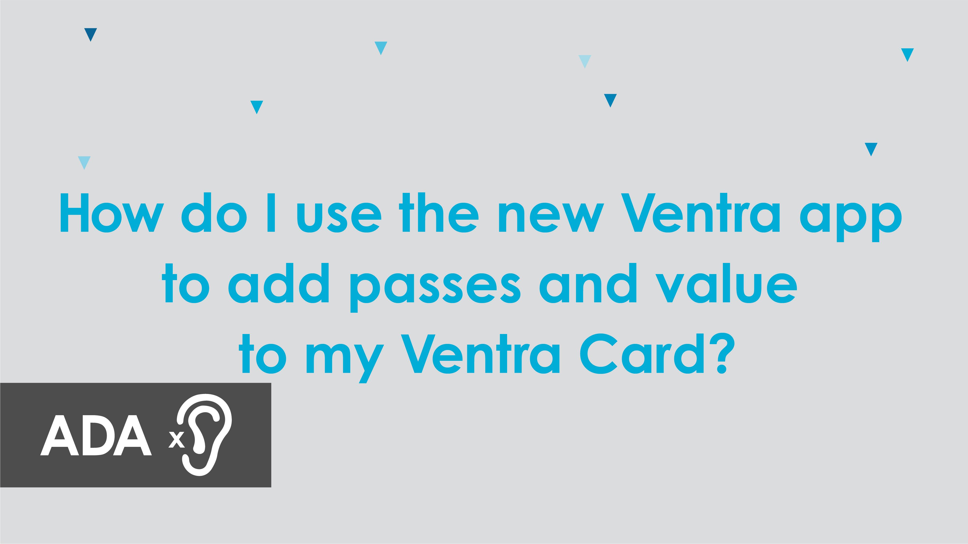 Ventra App Metra Video